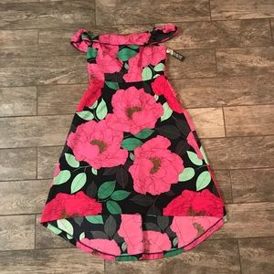 New York & Company off the shoulder floral dress